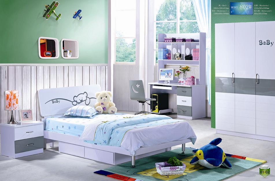 MDF Niños Muebles de Dormitorio Import Export