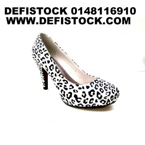 escarpins leopard blanche ref 2684 4.95 € ht
