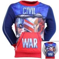 El sudor Capitán América de 3 a 8 años