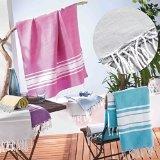 Fouta 100% algodón personalizadas según la elección de la decoración y Fouta deco