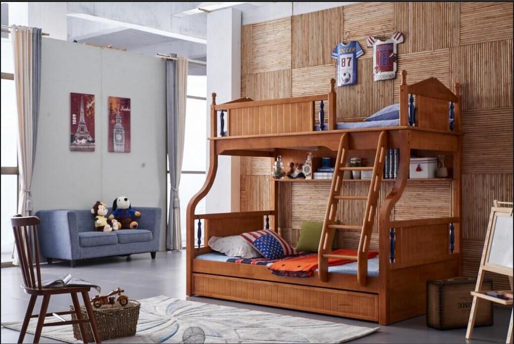Literas de madera de roble muebles jard n de infancia con for Literas de madera para ninos