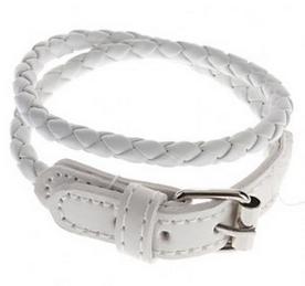 Bracelet original tresse, avec fermoire style ceinture ( blanc )