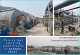 The newest high oil yield waste tyre recycling pyrolysis plant