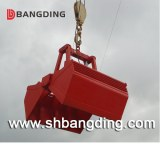 Electro-hydraulic clamshell grab bucket for ship loading