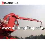 Telescopic knuckle boom marine deck crane for ship