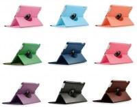 Al por mayor iPad Retina Aire 360 ° Rotación de cuero elegante de la cubierta