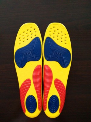 Outdoor Hiking shoe PU insoles for sports players sketchers massage absorb shock