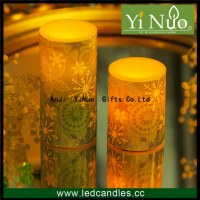 3in X 4in Green Snowflake Led Flameless Candle