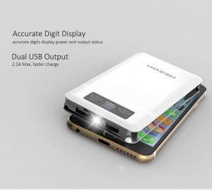 6000mAh Dual USB Power Bank Dashboard Display