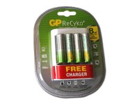 Chargeur USB GP ReCyko + 4 piles rechargables AA (2000mAh)