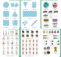 Party favors, party decorations, disposable tableware,birthday candle, paper plate, paper cup, ta...