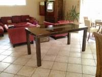 TABLES SALLE A MANGER ACIER ET BOIS