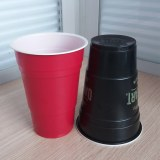 14oz 425ml PS Dual Color Red Solo Pong Cup with Logo