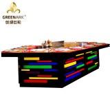 Forma de puente Rainbow Color Teppanyaki Table Grill Equipo de cocina