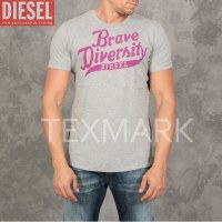 "GROSSISTE DE LOT 10 T SHIRTS DIESEL ""BRAVE"" GRIS 2015"