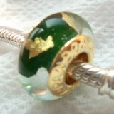 Sell Screw Threaded Gold-plate Copper Core Glass Bead
