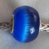 Sterling Silver Core Cat's Eye Beads Semi-precious Stone