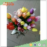 Hot sale new blue Chinese platic home decoration artificial flower mini tulip bulbs