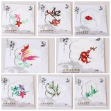 Hot Fashion Chinese Style Silk-like Handkerchief Embroidery Designs