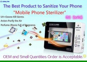 CE RoHS Certified Mobile Phone Sterilizer UV Cellphone Sanitizer Disinfector, UV Ozone...