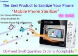 CE RoHS Certified Mobile Phone Sterilizer UV Cellphone Sanitizer Disinfector, UV Ozone...