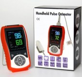Temperature Probe Veterinary Handheld Pulse Oximeter SpO2 Heart Rate Continuous Detecti...