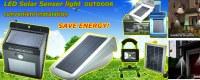 3W LED de luz de energía solar 4000mA sensor PIR escalera acero inoxidable camino paso...