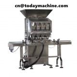 Máquina de envasado de gránulos de doble cabezal que pesa granos de café maní