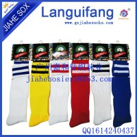 Rayas calcetín de fútbol personalizado en varios colores