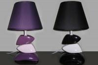 LAMPE DESIGN NOIR BLANC