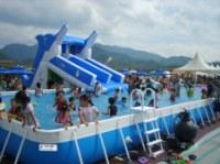 Waterslides, inflatable waterslides, aqua slide, inflatable aqua slide