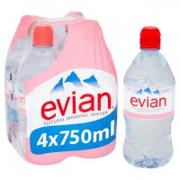 Evian and Perrier Natural Mineral Water