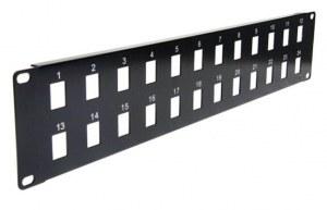 Panel de montaje en rack Ethernet Patch en blanco