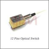 12 Pins Mini single-ended Fiber Optic Switch for Metropolitan Area Network