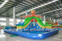 Giant inflatable water slide, floating water park, water park for kids
