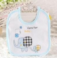 1 piece Cotton New-born cartoon elephant girls children baby bibs, gift feeding towel...