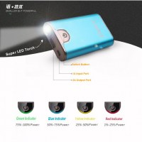 Global Smallest 10000mAh Metal Power Bank Mobile External Battery Pack for iPhone 6 Plus