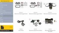 Kits de réparation et pieces de rechange de l'étrier de freins pour camions, poids lourds, utilit...