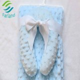 Very famous popular design minky dot baby blanket with security pillow