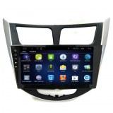 Android de cuatro núcleos de coche GPS Hyundai Verna / Accent / Solaris 9 pulgadas