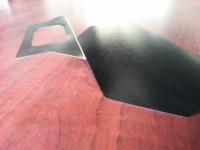 Suzhou factory/Custom black polycarbonate sheet bending service/polycarbonate fabrication