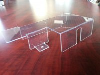 Professional polycarbonate hot bending fabrication/Polycarbonate punching part/Polycarb...