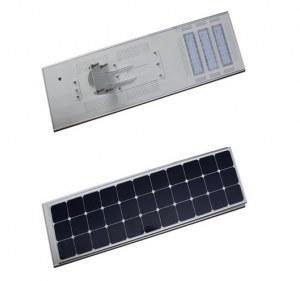 60W alta eficiencia luz de calle solar integrado llevado para la iluminación de la calzada