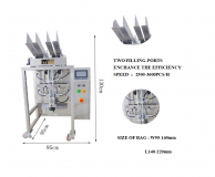 Fully automatic two ports facial mask folding packing machine