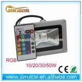 10w 20w 30w 50w rgb led outdoor flood light