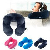 U-Shape Travel Pillow for Airplane Inflatable Neck Pillow Travel Accessories 4Colors Co...