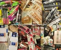 Destockage Nouveau arrivage Lot de maquillages de marque Blister