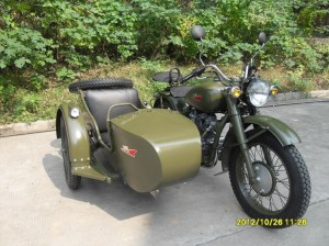 Changjiang250cc Classic Millitary Motorcycle Sidecar Bike