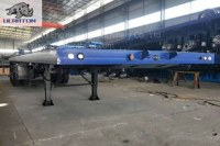 2 Axles 30T Flatbed Container Transport Semi Truck Trailer