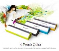 2600mAh Metal Power Bank Aluminium Alloy Mini Power Bank with Torch For Samsung Galaxy...